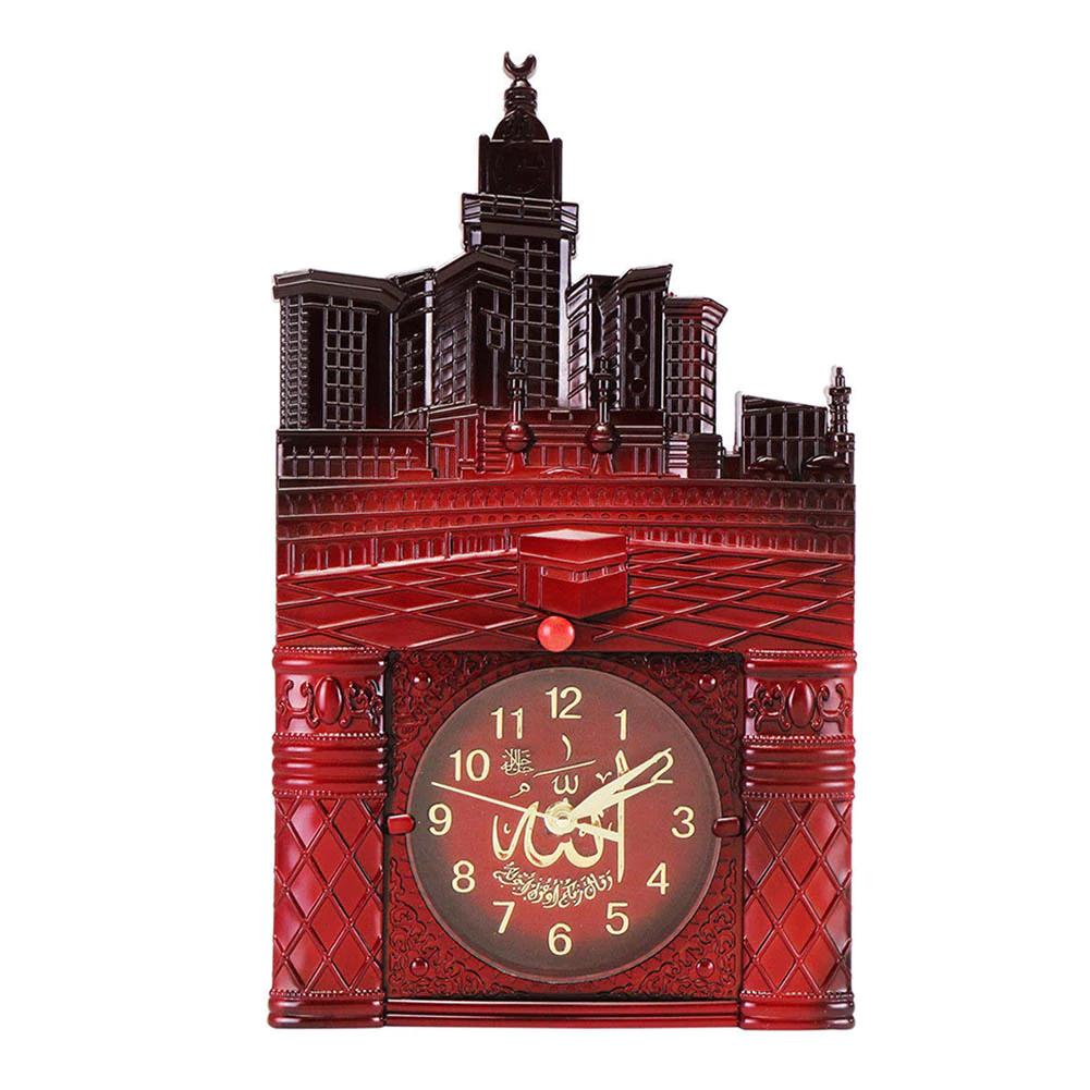 ProductsPro Moslim Gebed Thuis Kamer Decor Vintage Islamitische Moskee Azan Wandklok GiftKoop - Rood