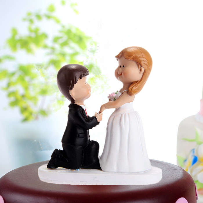 Personalized cake topper for interracial wedding