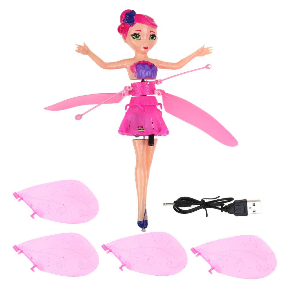 Induktion Infrarot-Fliegen-Fee Rosa Soul hill Elektronische Induktion Fliege Kleine Fee Haus Magische Geschenk Color : Pink